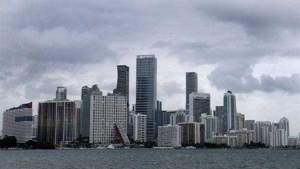 PHOTO: Clouds loom over the Miami skyline, May 14, 2020. (Wilfredo Lee/AP)