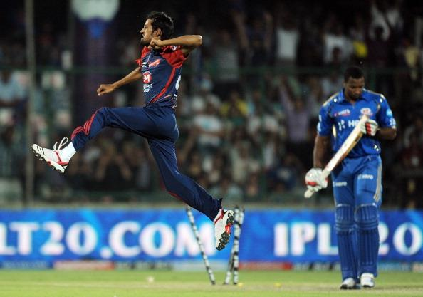 Delhi Daredevils cricketer Shahbaz Nadee : News Photo