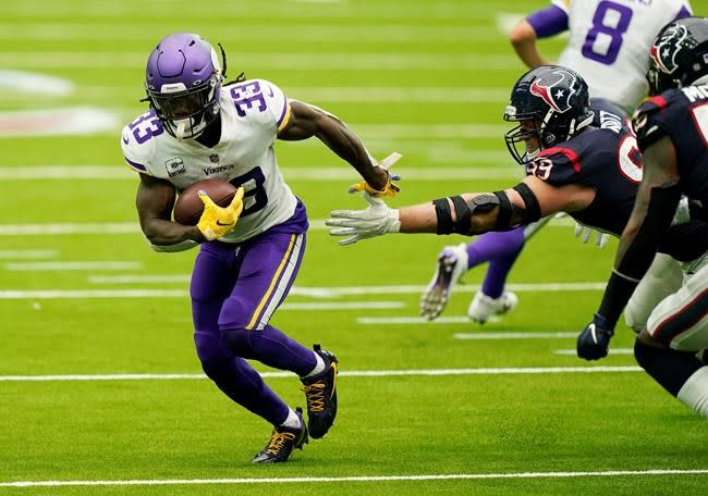 Cook has 2 TDs as Vikings get 1st win, 31-23 over Texans