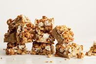 """Imagine what would happen if gooey butterscotch cookies and crunchy Cracker Jack had a love child. <a href=""""https://www.epicurious.com/recipes/food/views/caramel-corn-blondies-56389810?mbid=synd_yahoo_rss"""" rel=""""nofollow noopener"""" target=""""_blank"""" data-ylk=""""slk:See recipe."""" class=""""link rapid-noclick-resp"""">See recipe.</a>"""