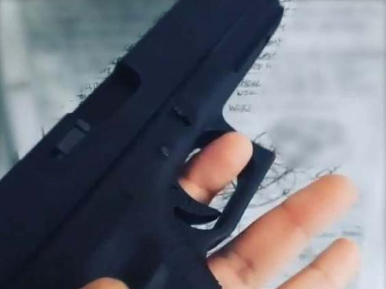 An Instagram video posted by Mohiussunnath Chowdhury showing a replica airsoft Glock pistol (Metropolitan Police)