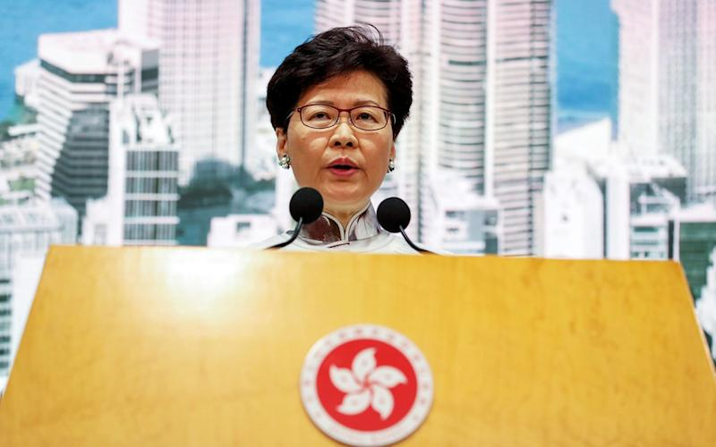 Hong Kong leader Carrie Lam announced the indefinite postponement of the controversial bill - REX
