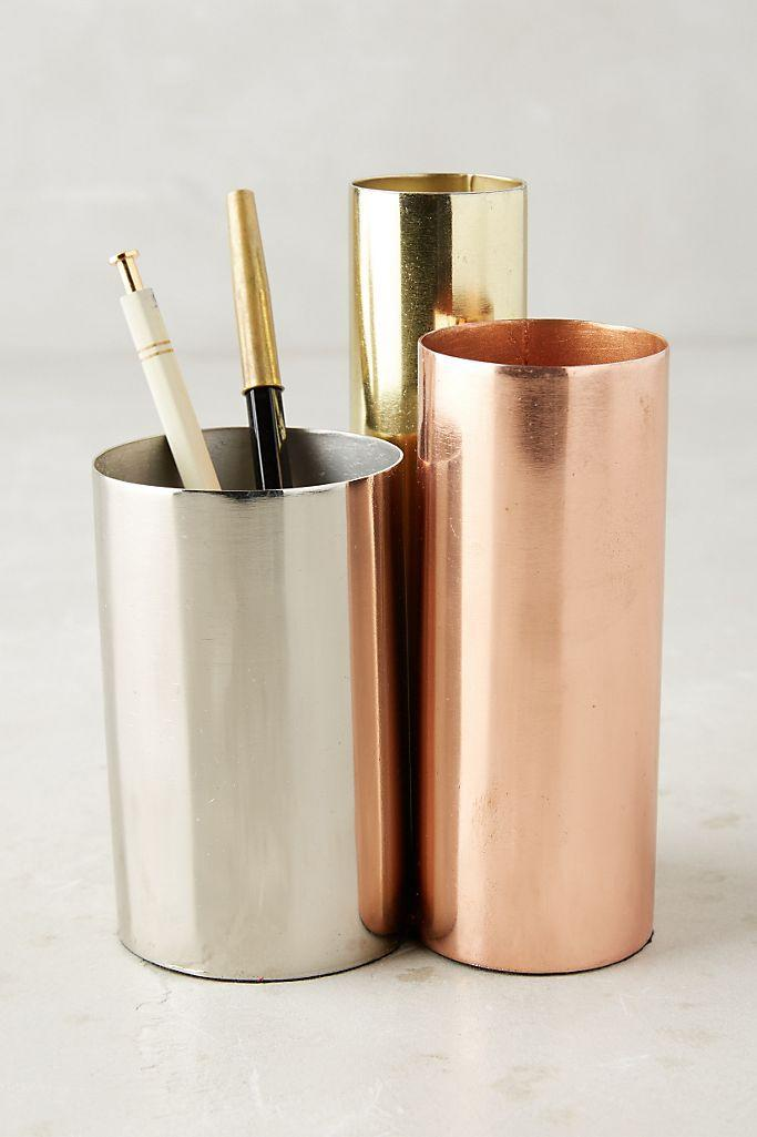 "<h2>Luster Trio Pencil Holder</h2><br>Keep your pens, pencils, and maybe makeup brushes stored neatly inside these high-shine pencil holders. <br><br><strong>Anthropologie</strong> Luster Trio Pencil Holder, $, available at <a href=""https://go.skimresources.com/?id=30283X879131&url=https%3A%2F%2Fwww.anthropologie.com%2Fshop%2Fluster-trio-pencil-holder%3F"" rel=""nofollow noopener"" target=""_blank"" data-ylk=""slk:Anthropologie"" class=""link rapid-noclick-resp"">Anthropologie</a>"