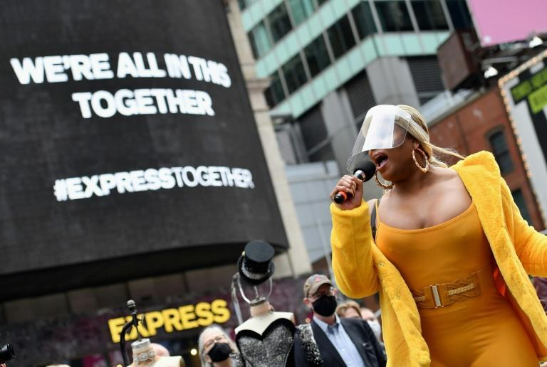 Performer Peppermint, who in 2018 became the first transgender woman to play the leading role in a Broadway musical, participates in the live pop-up event