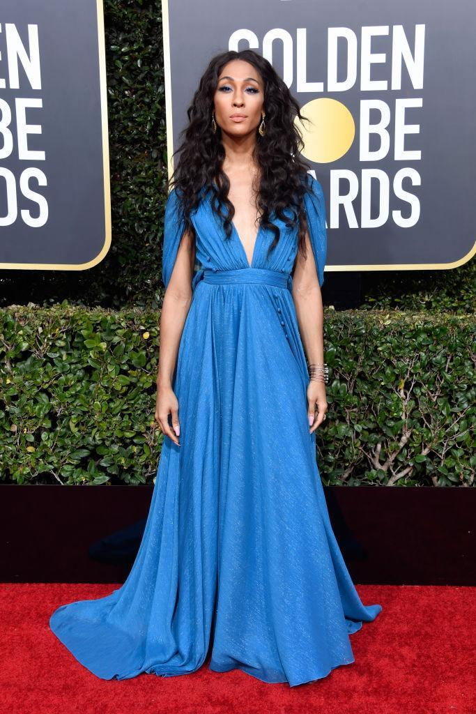 <p>Mj Rodriguez attends the 76th Annual Golden Globe Awards at the Beverly Hilton Hotel in Beverly Hills, Calif., on Jan. 6, 2019. (Photo: Getty Images) </p>