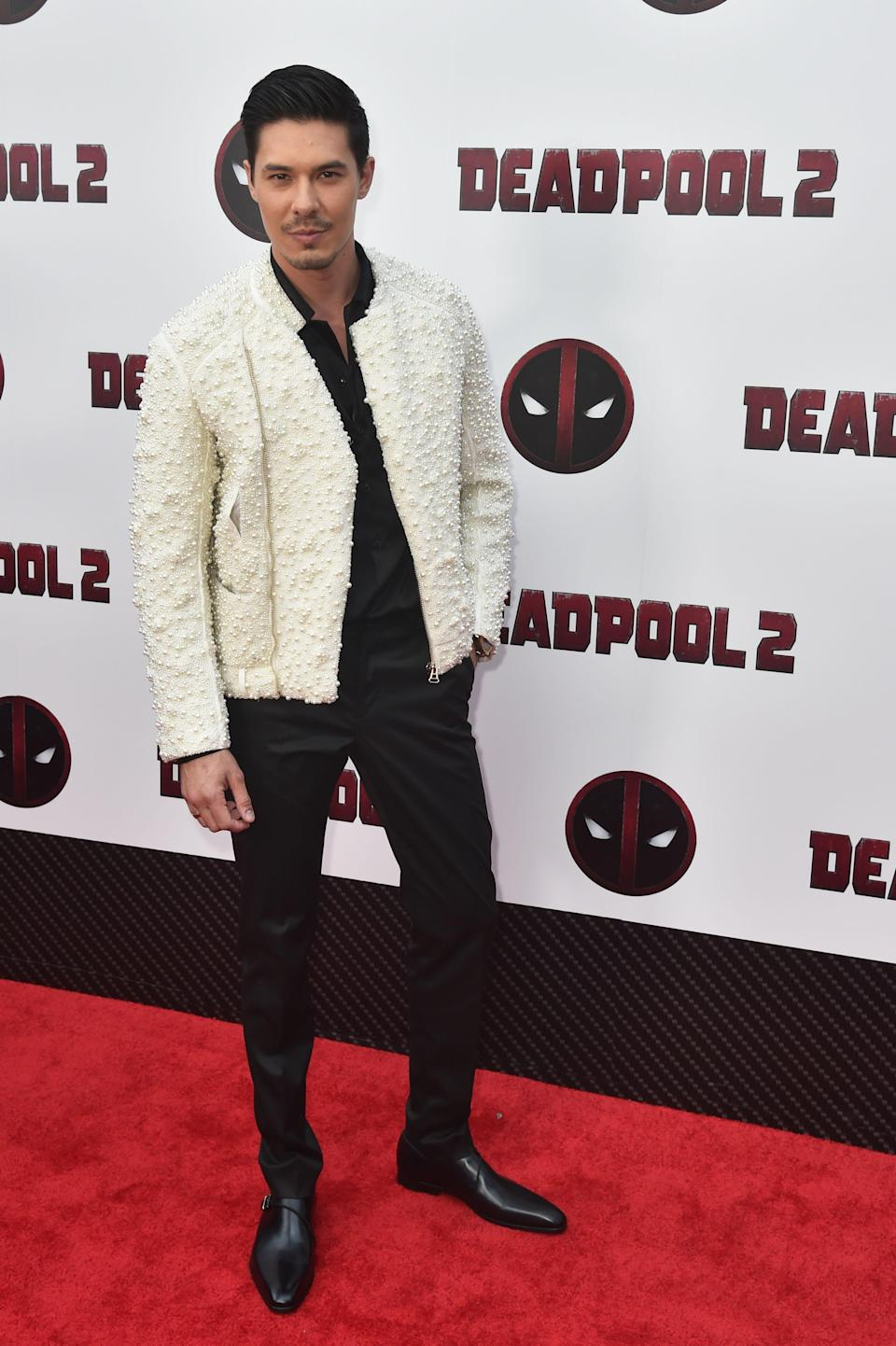 """Lewis Tan attends a special screening of """"Deadpool 2"""" in 2018."""