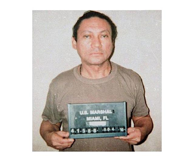 <p>Former Panamanian dictator Manuel Noriega mugshot in 1990. (Bureau of Prisons/Getty Images) </p>