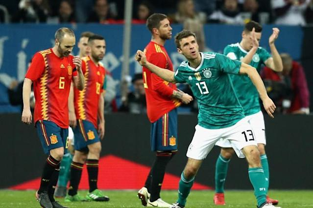 Germany 1 Spain 1: Amazing Thomas Muller record continues with draw in Dusseldorf