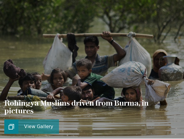 Rohingya Muslims driven from Burma, in pictures