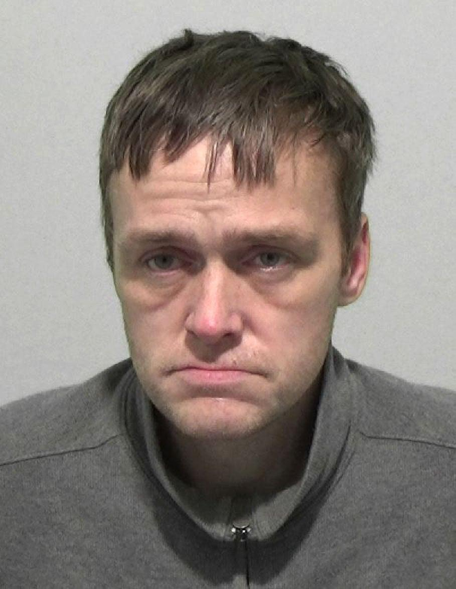Mark Cooper, 41, was found asleep next to a half-eaten cheesecake by police responding to a break-in at a bar in SunderlandNorthumbria Police