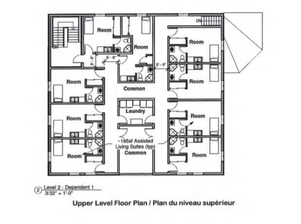 A floor plan for the proposed second floor of the centre.