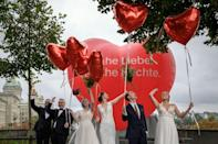 Backfire: the referendum was triggered by opponents of gay marriage (AFP/Fabrice COFFRINI)