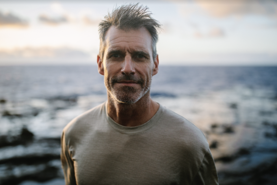 Long-distance swimmer Ben Lecomte swam more than 500 kilometres through the Great Pacific Garbage Patch. Source: Icebreaker