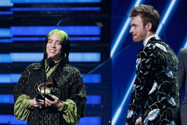 PHOTO: Billie Eilish and Finneas O'Connell accept the award for Song Of The Year for 'Bad Guy' at the 62nd Grammy Awards in Los Angeles, Jan. 26, 2020. (Mario Anzuoni/Reuters)