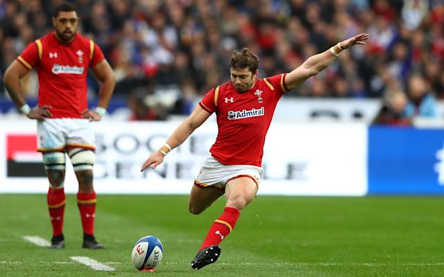 <span>Wales led through most of the second half thanks to the boot of Leigh Halfpenny</span> <span>Credit: Michael Steele/Getty Images </span>
