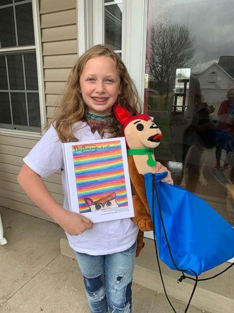 PHOTO: For her final third grade project, Maci Muschett, 9, wrote a book about a dog named Gerbull -- a mix between a German shepherd and a pit bull. (Budsies)