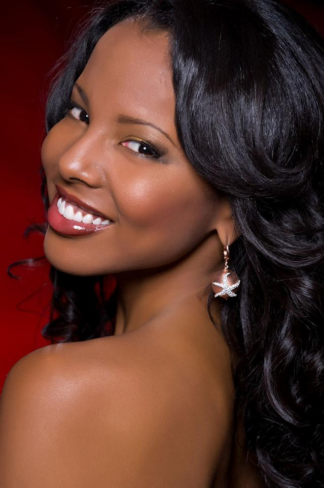 Braneka Bassett, Miss Bahamas 2010, competes for the title of Miss Universe 2010 during the 59th Annual Miss Universe competition from the Mandalay Bay Resort and Casino, in Las Vegas, Nevada.