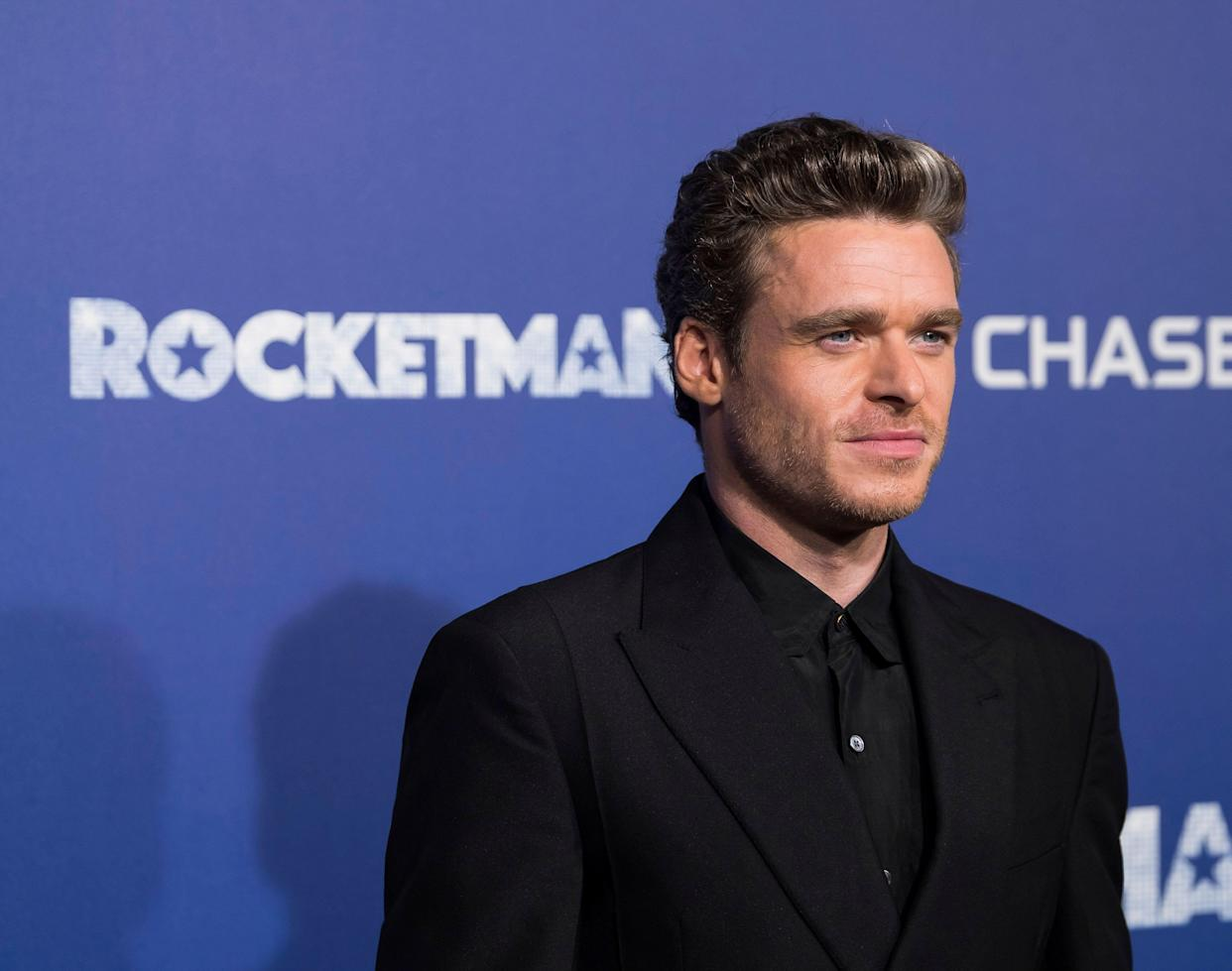 """Richard Madden attends the premiere of """"Rocketman"""" at Alice Tully Hall on Wednesday, May 29, 2019, in New York. (Photo by Charles Sykes/Invision/AP)"""