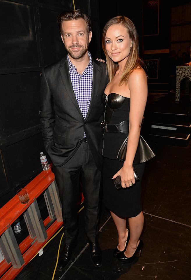CULVER CITY, CA - JUNE 08: Actors Jason Sudeikis and Olivia Wilde attend Spike TV's Guys Choice 2013 at Sony Pictures Studios on June 8, 2013 in Culver City, California.  (Photo by Jason Merritt/Getty Images for Spike TV)