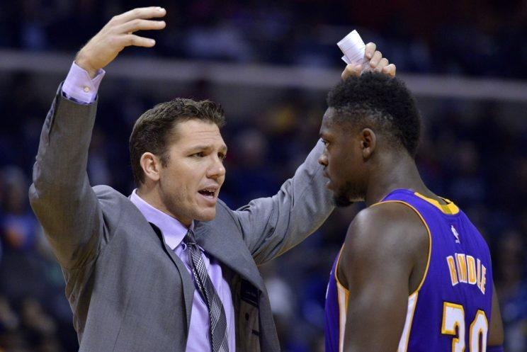 Coach Luke Walton is pushing Randle to be great. (AP)