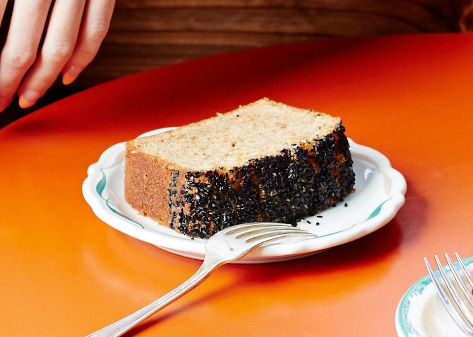 "Call all your vegan friends! This incredibly moist, expertly spiced carrot cake is worth throwing a party for. <a href=""https://www.bonappetit.com/recipe/black-sesame-carrot-cake?mbid=synd_yahoo_rss"" rel=""nofollow noopener"" target=""_blank"" data-ylk=""slk:See recipe."" class=""link rapid-noclick-resp"">See recipe.</a>"