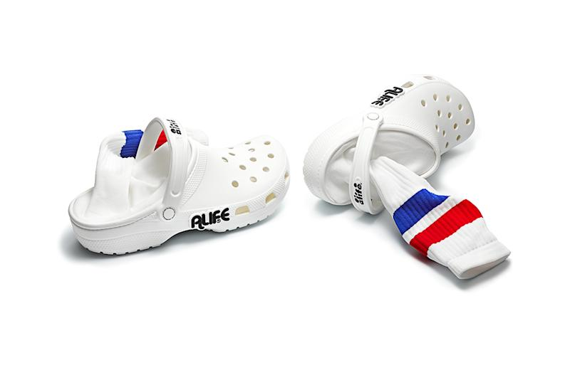9881a79197886 Crocs Just Got a Sock-Sandal Hybrid Makeover   More in a New Collab ...