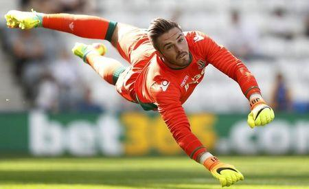 Britain Football Soccer - Preston North End v Stoke City - Pre Season Friendly - Deepdale - 23/7/16 Stoke City's Jack Butland in action  Action Images via Reuters / Carl Recine Livepic/Files