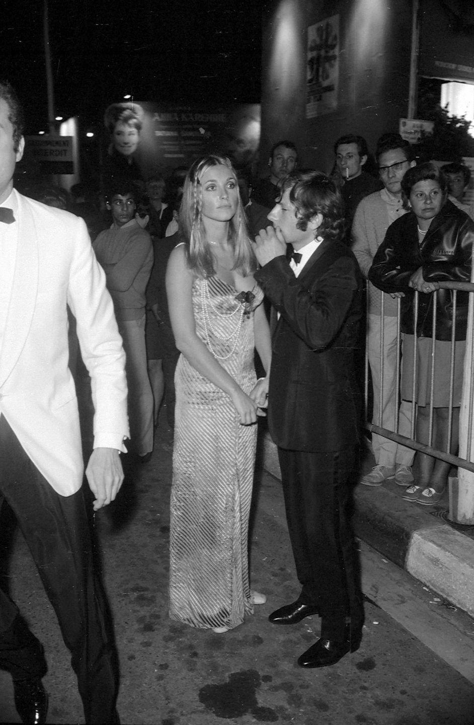 <p>Tate was often noticed for her fashion sense. Here she is at the Cannes Film Festival in 1968.</p>