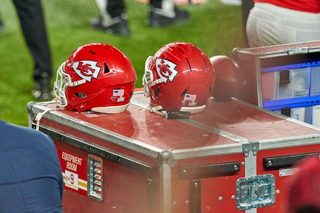 Players will have the option to wear a helmet sticker honoring a victim of racial or police violence. (Photo by Robin Alam/Icon Sportswire via Getty Images)