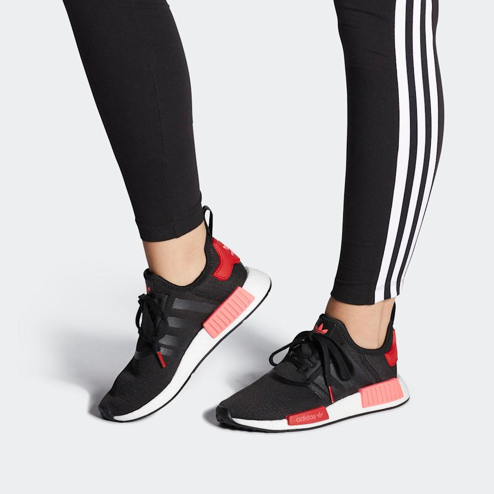 """<h3><a href=""""https://www.adidas.com/us/women-sale"""" rel=""""nofollow noopener"""" target=""""_blank"""" data-ylk=""""slk:Adidas"""" class=""""link rapid-noclick-resp"""">Adidas</a></h3> <br><strong>Dates:</strong> Limited time<br><strong>Discount:</strong> End of season sale up to 50% off<br><strong>Promo Code:</strong> None<br><br><strong>Adidas</strong> NMD_R1 Sneakers, $, available at <a href=""""https://go.skimresources.com/?id=30283X879131&url=https%3A%2F%2Fwww.adidas.com%2Fus%2Fnmd_r1-shoes%2FEH0206.html"""" rel=""""nofollow noopener"""" target=""""_blank"""" data-ylk=""""slk:Adidas"""" class=""""link rapid-noclick-resp"""">Adidas</a><br><br><br>"""