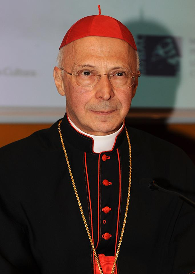 Cardinal Angelo Bagnasco attends the ''L'emergenza educativa'' book presentation during the 2010 Turin International Book Fair on May 14, 2010 in Turin, Italy. (Photo by Valerio Pennicino/Getty Images)