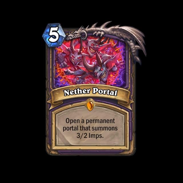 <p>Infinite 3/2 imps is good. Five mana to create them every turn is very good. If the Nether Portal manages to drop and stick around for many turns, it can take over the game. </p>