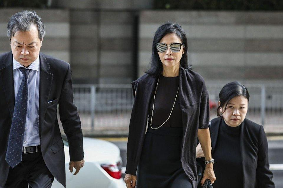 Wilson Fung failed to declare his relationship with businesswoman Cheyenne Chan (centre) Photo: Nora Tam