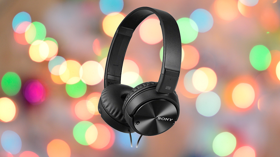 Save 59 percent on these Sony MDR-ZX110NC Noise-Canceling Wired Over-Ear Headphones. (Photo: Amazon)