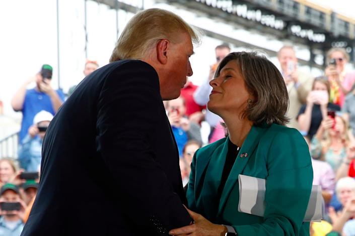 Donald Trump with Joni Ernst