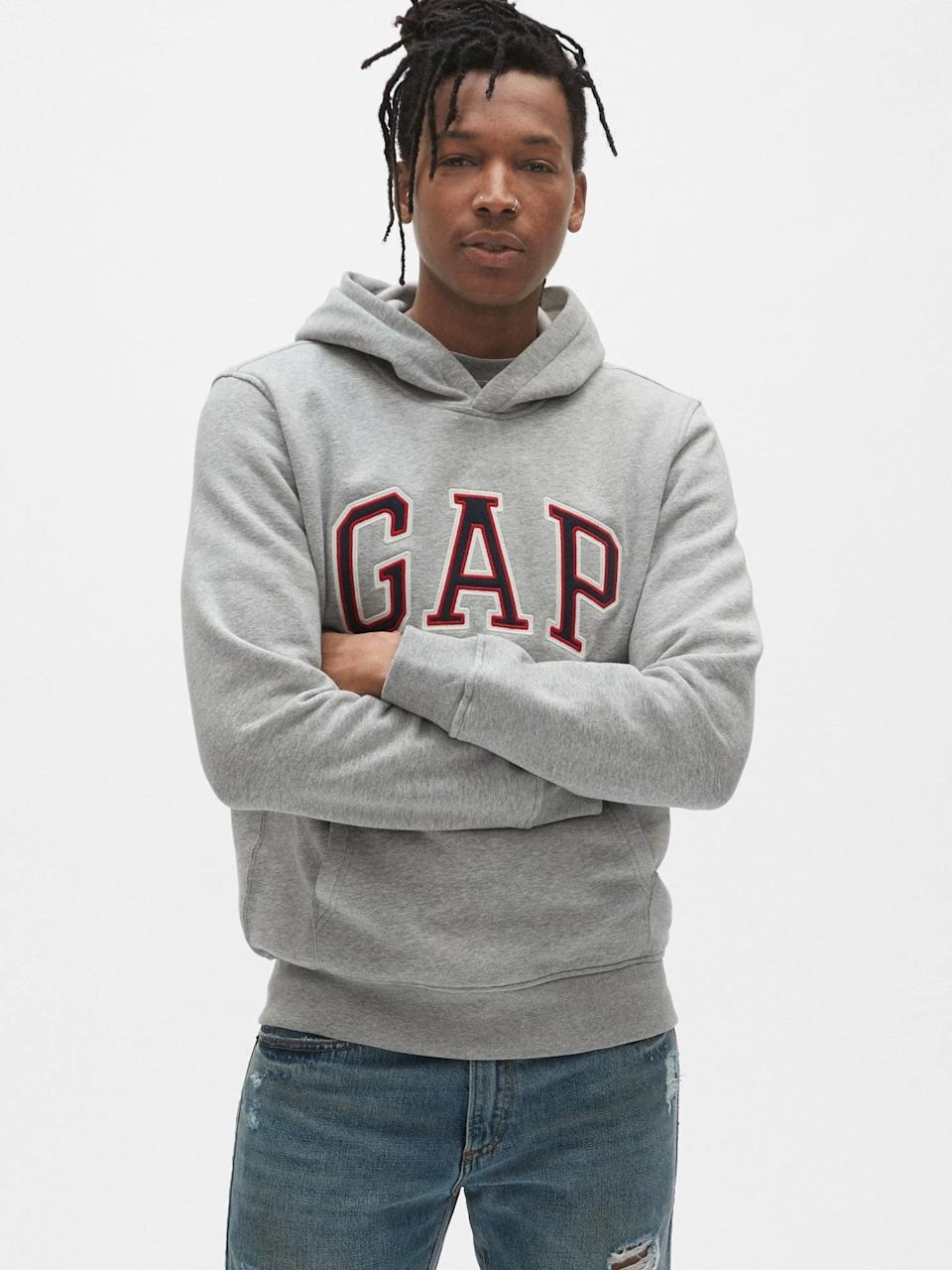 <p>Throw on this <span>Gap Arch Logo Hoodie</span> ($47, originally $60) after a great workout.</p>