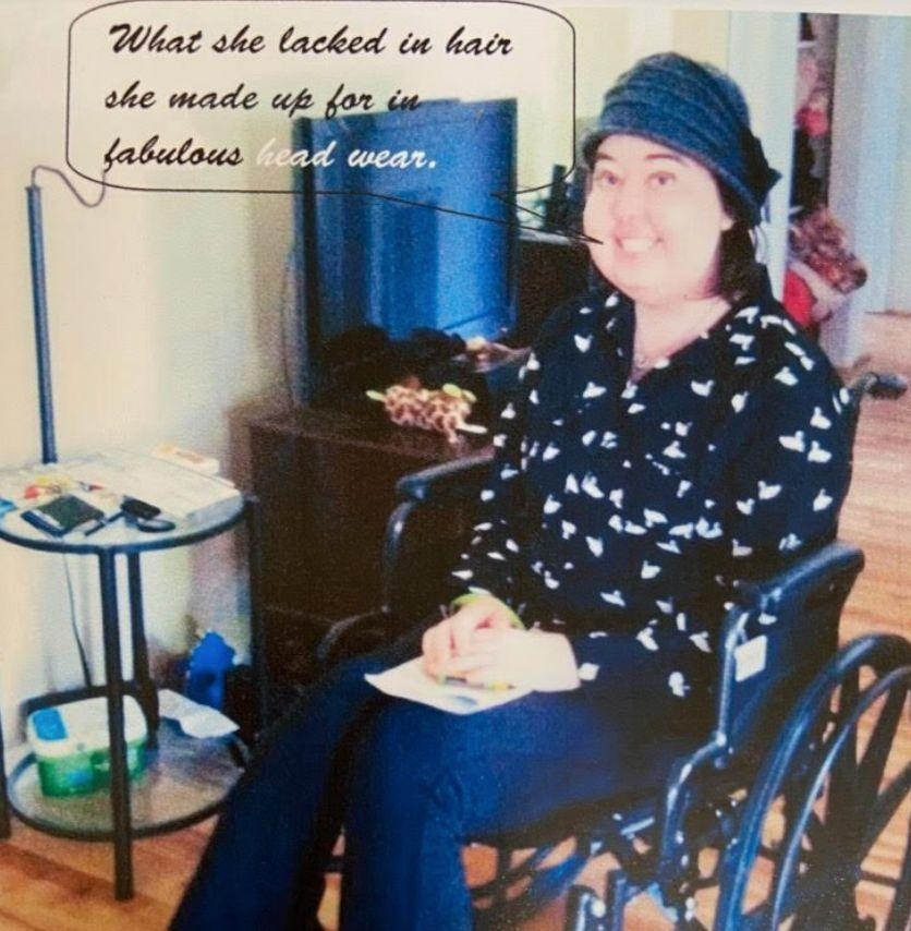 The author in her wheelchair after a doctor's appointment. (Photo: Courtesy of Meghan Beaudry)