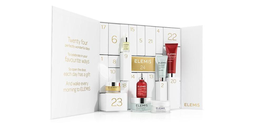 <p>Worth over £300, this £150 beauty calendar boasts a number of Elemis' cult products, including a Pro-Collagen Marine Cream. <em>Available from 23 October at Elemis.</em> </p>