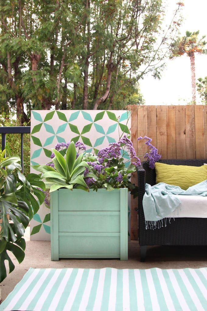 """<p>A wooden planter box can give your plants a chic look with hardly any work at all. This sea-green color is especially pretty.</p><p><strong>Get the tutorial at <a href=""""https://www.apieceofrainbow.com/diy-wood-planter-boxes/"""" rel=""""nofollow noopener"""" target=""""_blank"""" data-ylk=""""slk:A Piece of Rainbow"""" class=""""link rapid-noclick-resp"""">A Piece of Rainbow</a>.</strong></p><p><a class=""""link rapid-noclick-resp"""" href=""""https://go.redirectingat.com?id=74968X1596630&url=https%3A%2F%2Fwww.walmart.com%2Fip%2FGro-Pro-Premium-Nursery-Pot-15-Gallon%2F130002527&sref=https%3A%2F%2Fwww.thepioneerwoman.com%2Fhome-lifestyle%2Fgardening%2Fg36556911%2Fdiy-planters%2F"""" rel=""""nofollow noopener"""" target=""""_blank"""" data-ylk=""""slk:SHOP PLANTER POTS"""">SHOP PLANTER POTS</a></p>"""