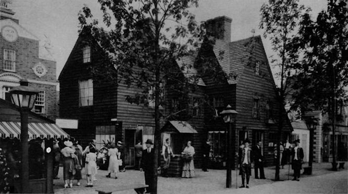 An image of The House of the Seven Gables, a 1668 home in Salem, Mass., in the 1930s | Alamy