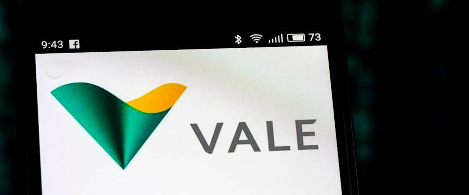 Vale S.A. logo seen displayed on smart phone.