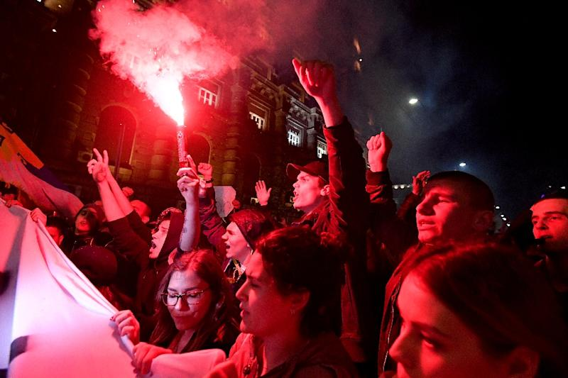 Thousands of demonstrators have gathered daily in Belgrade and other cities to protest Vucic's election