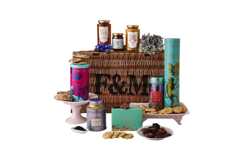 "<p>For those who don't mind splurging, the Fortnum and Mason Mother's Day hamper is a must. The classic wicker basket comes complete with an apricot, honey and lavender tea infusion – perfect before bed. While the pistachio and clotted cream biscuits will make the perfect dunking accompaniment. <a rel=""nofollow"" href=""https://www.fortnumandmason.com/products/mother-s-day-hamper?channel=ppc&gclid=CjwKCAjwycfkBRAFEiwAnLX5IXnyAoSCuRNRnHRhZ-wDuAgFD_YWYHj3yG1lEIcQ3IZtSSpz3LJF1RoCLioQAvD_BwE&gclsrc=aw.ds""><em>Buy now</em></a>. </p>"