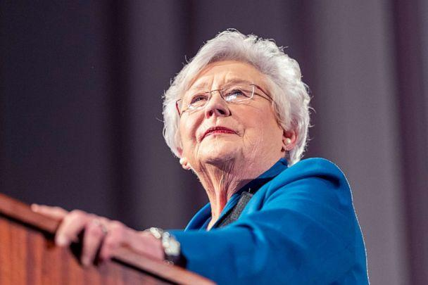 PHOTO: Gov. Kay Ivey gives the State of the State Address to a joint session of the Alabama Legislature, Feb. 4, 2020, in the old house chamber of the Alabama State Capitol in Montgomery, Ala. (Vasha Hunt/AP, FILE)