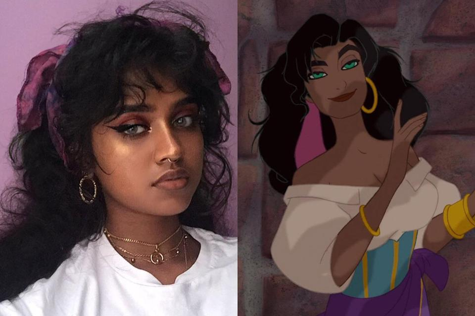 The internet says this teen is Esmeralda in real life. (Photo: Instagram bbyg6rl/Disney)