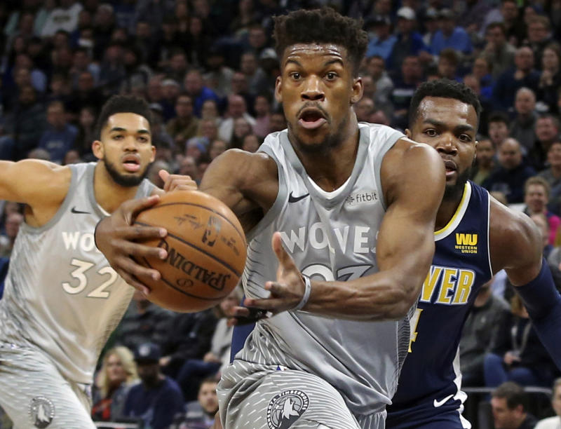 da603908a30 Jimmy Butler is heading to Philadelphia, Dario Saric and Robert Covington  are headed to Minnesota and NBA Twitter has some thoughts. (AP Photo/Jim  Mone)