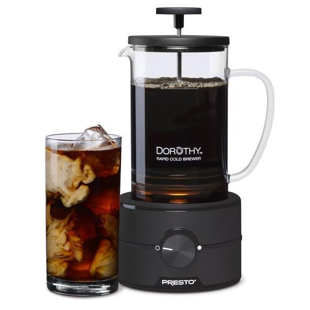 <p>If you love indulging in iced coffee, you need the <span>Presto Dorothy Rapid Cold Brew Coffee Maker</span> ($35, originally $80).</p>