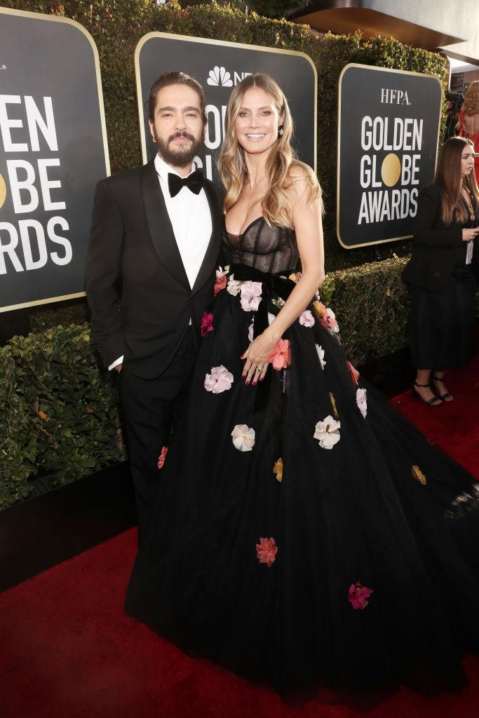 <p>Tom Kaulitz and Heidi Klum attend the 76th Annual Golden Globe Awards at the Beverly Hilton Hotel in Beverly Hills, Calif., on Jan. 6, 2019. (Photo: Getty Images) </p>