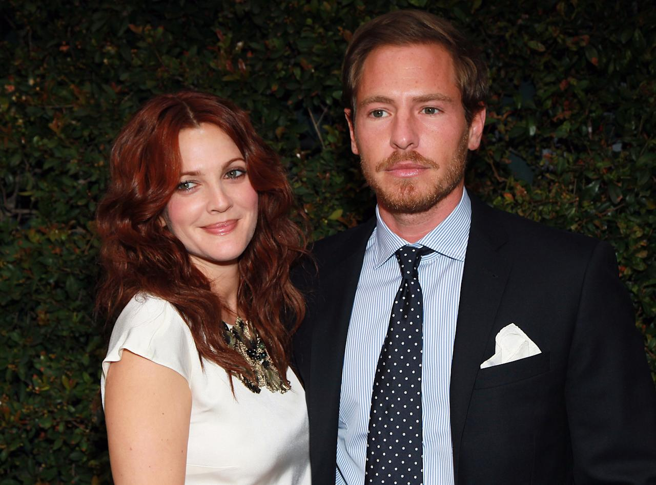 MALIBU, CA - FILE:  Actress Drew Barrymore (L) and art consultant Will Kopelman attend Chanel's benefit dinner for the Natural Resources Defense Council's Ocean Initiative at the home of Ron & Kelly Meyer on June 4, 2011 in Malibu, California.  According to reports January 5, 2012 Drew Barrymore and Will Kopelman are engaged.  (Photo by David Livingston/Getty Images)