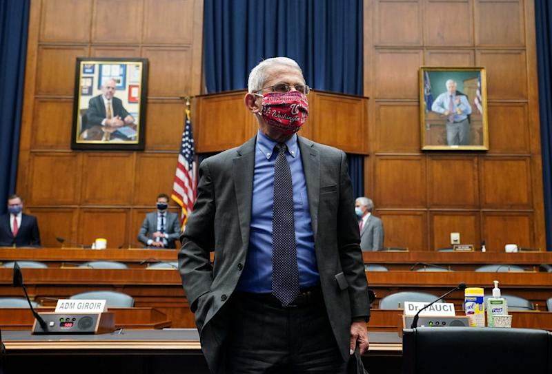 Dr Anthony Fauci leaves a hearing before the US House of Representatives' Committee on Energy and Commerce: Getty Images